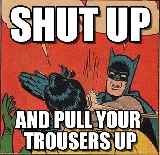 За Батман и мен.